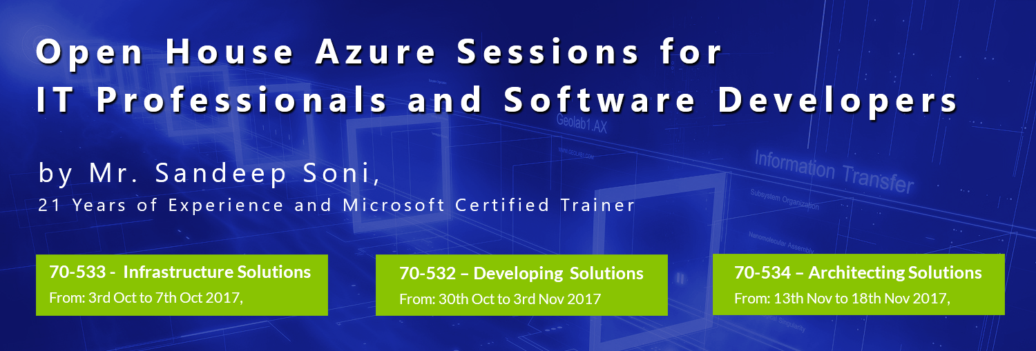 Azure Certification Training 70 532 70 533 Certification Training